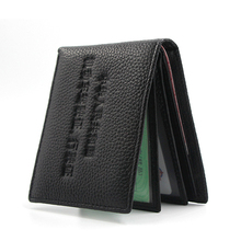 Leather genuine 2019 Busienee slim  Men wallet Large Capacity small money purse High Quality Waterproof thin cow driver license
