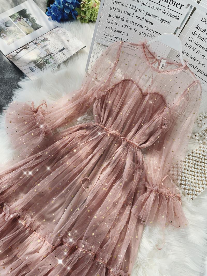 Gauze Two Piece Midi Dress 26