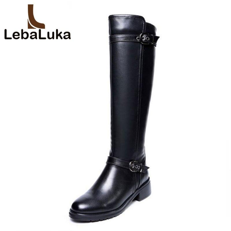 Rodilla En Planos Real La Genuino Negro Botas Estilo De Tamaño Marca Británico Cuero Calzado Lebaluka R8031 Zapatos Sobre 33 43 Tiempo 6wfFxqOnBA