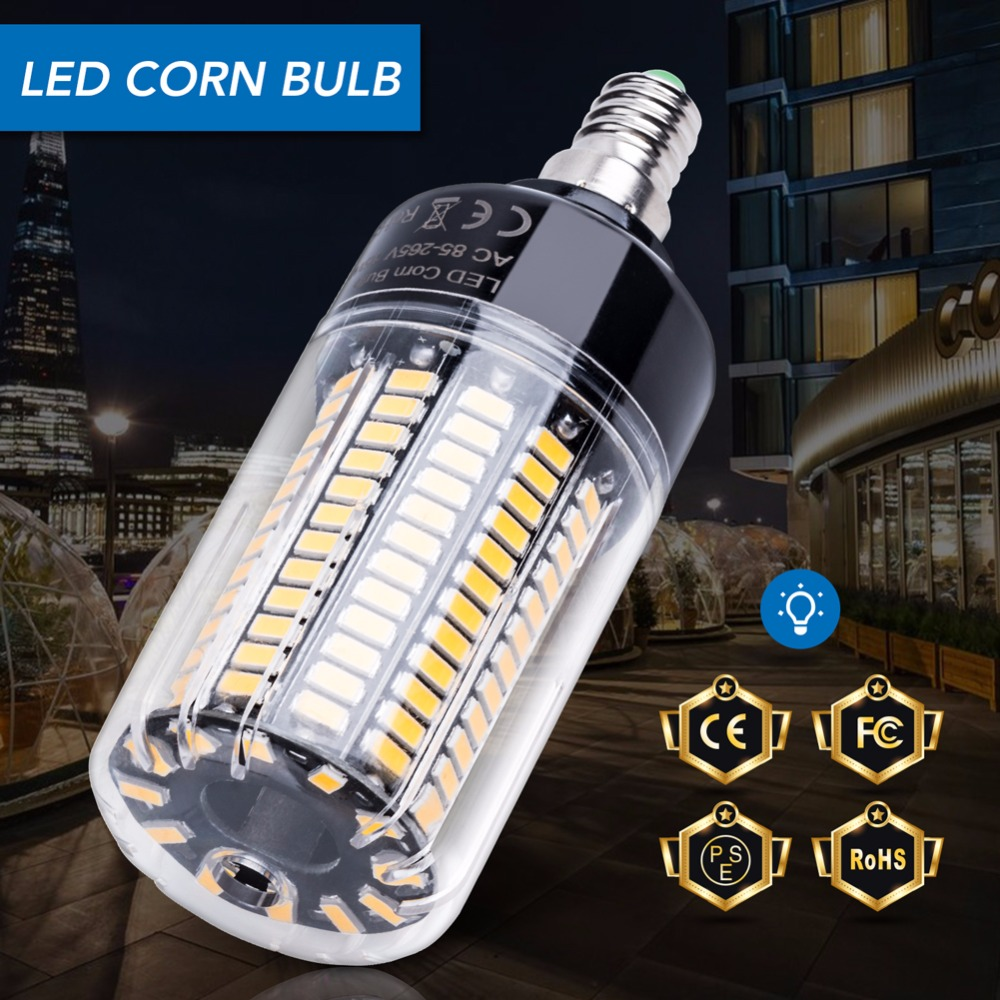 Led Corn Bulb E27 Led Lamp E14 AC 85-265V SMD 5736 Light 28 40 72 108 132 156 189leds Lamparas 220V Smart IC Bedroom Spotlight