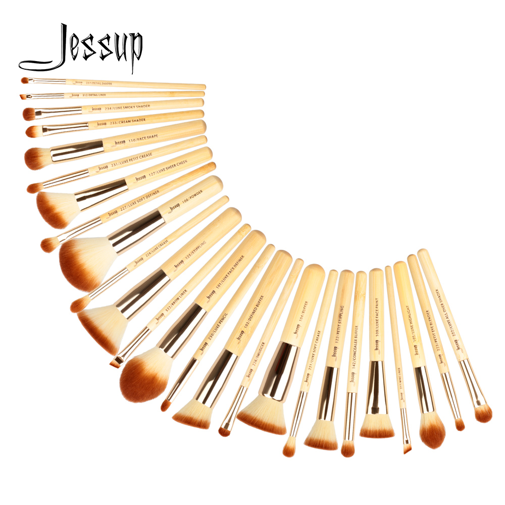 Jessup Brushes 25pcs Beauty Bamboo Professional Makeup Brushes Set Pincel Foundation Powder Blushes Eye Shader T135