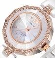 Роскошные женщины керамические водостойкой часы спортивные женские наручные часы, Бесплатная доставка Высокое качество керамические горный хрусталь женщины watch8877