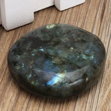 Unique 1PC Large Tumbled Stone Labradorite Quartz Crystal Healing Mineral Rock Specimens Paperweight for Home Office Decor Gift(China)
