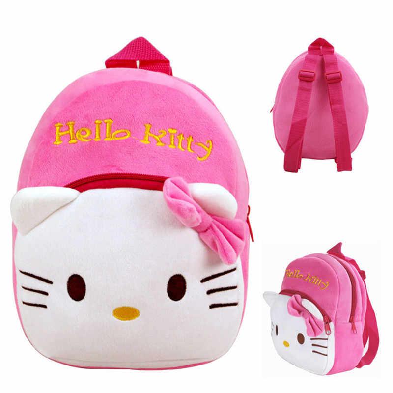 637bf076c5 Kawaii Cat Kitten Mini Baby Lovely Girl Character School Bags Plush Backpack  Cartoon Schoolbags Baby Kids