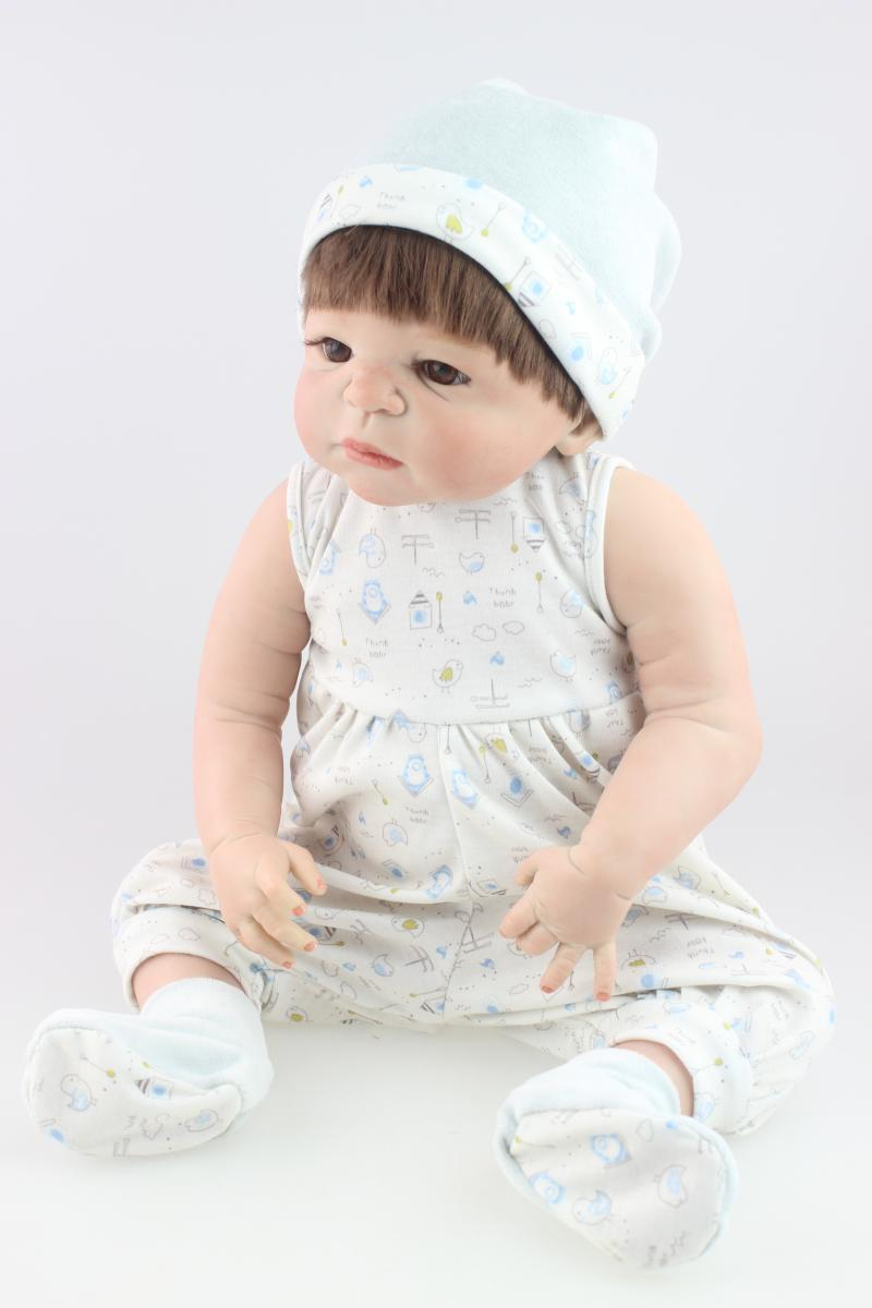 23 Inch NPK Collection Doll Realistic Reborn Babies Full Silicone Vinyl newborn Baby Dolls Kids Birthday Xmas Gift  realistic full vinyl 18 inch american doll girl baby reborn newborn dolls so truly real princess girls kids birthday xmas gift