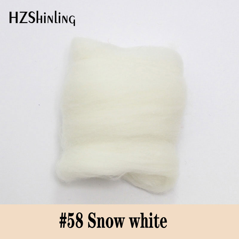 5 G Super Soft Felting Short Fiber Wool Perfect In Needle Felt And Wet Felt Snow White Color Wool Material
