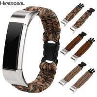 HIPERDEAL nueva correa de reloj de pulsera de supervivencia de cuerda de Nylon para Fitbit Alta/Fitbit Alta HR 17Dec22 Drop Ship F