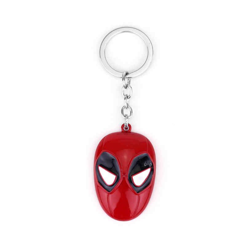 Cá nhân Đồ Trang Sức Anime Deadpool Keychain Mặt Nạ Mặt Dây Chuyền Keychain Kim Loại Keyring Cosplay Handmade Người Đàn Ông Trang Sức Llavero Holders