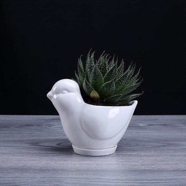 Ich pc Weiß Keramik Vogel Blumentopf Modernes Design Sukkulenten ...