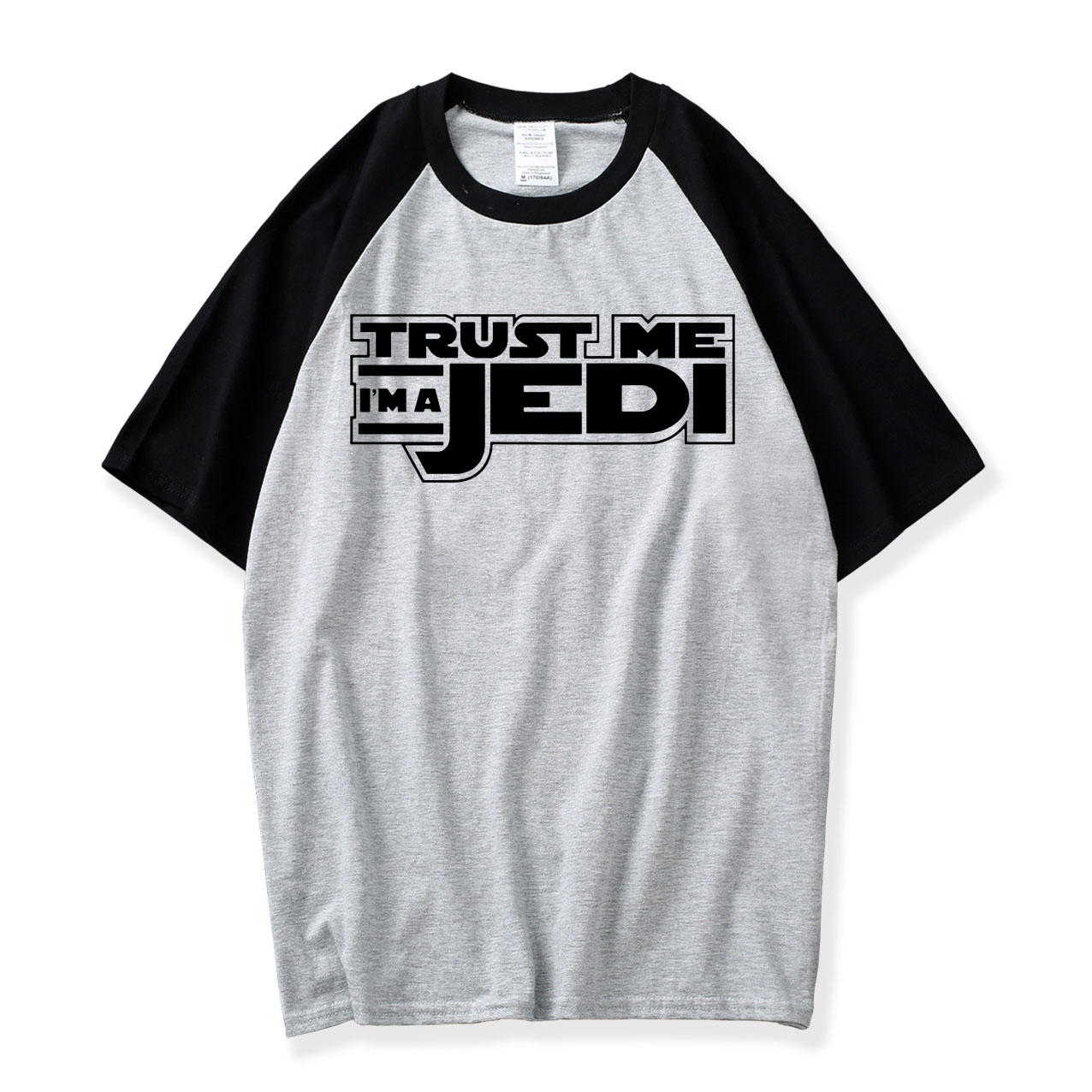 2018 Summer Hot Sale Printing College Tshirt Men Funny STAR WARS Trust Me I'm a Jedi knight Tshirts O-neck Shirts For Movie Fans