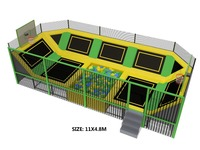 ASTM Certificated Medium Size Trampoline Park With Big Foam Pit and Basketball Area HZ LG070