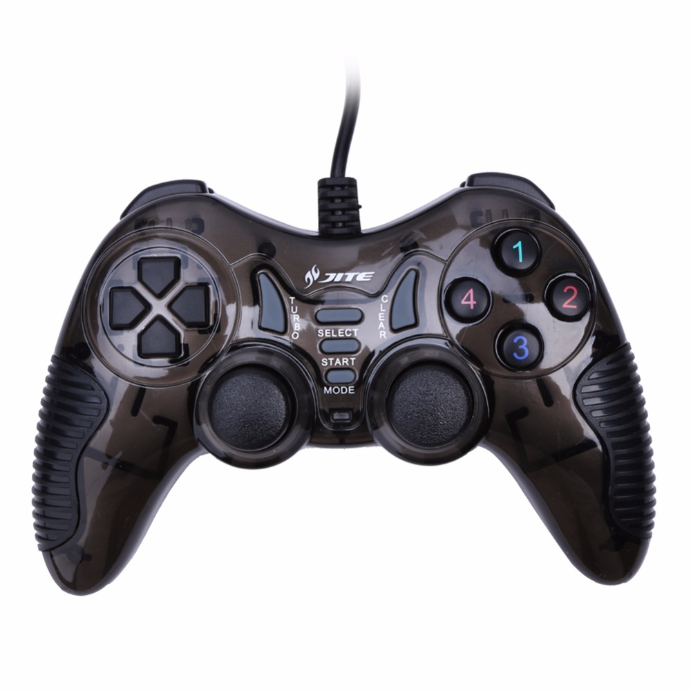 Brand JITE PC <font><b>Vibration</b></font> Joypad <font><b>Game</b></font> Controller Gamepad USB <font><b>Wired</b></font> <font><b>Joystick</b></font> <font><b>For</b></font> PC Computer Laptop