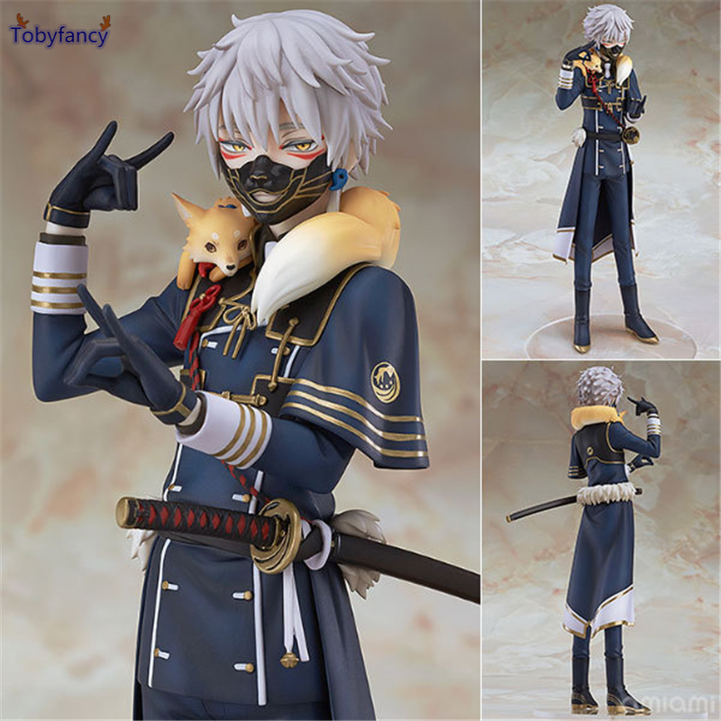 Tobyfancy Touken Ranbu Online Action Figure Nakigitsune Figure 20CM GSC OR PVC Touken Ranbu Collectible Model Toys vogue good smile shokitsunemaru fox ball kimono with sword 9 from action figure nitro game touken ranbu online