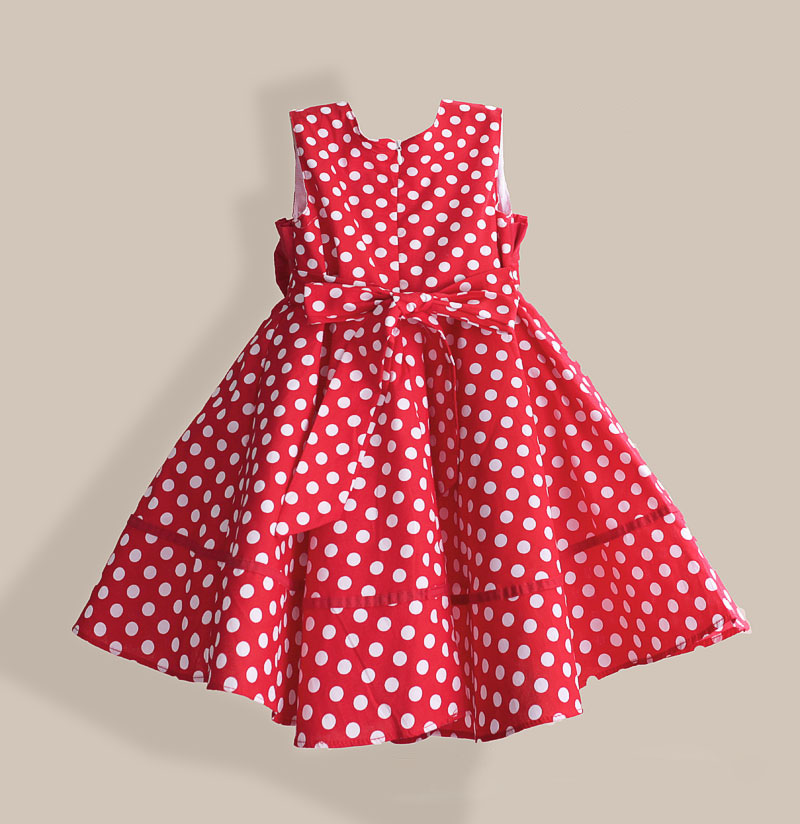 Summer Girl Dress With Hat Red Dot Fashion Bow Girls Dresses Casual A Line Kids Clothes Robe Fille Enfant 3 8 T by Hetiso