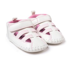 Summer spring pink white Pu leather baby girl sandals shoes  0~18 month newborn infantil shoes TX001