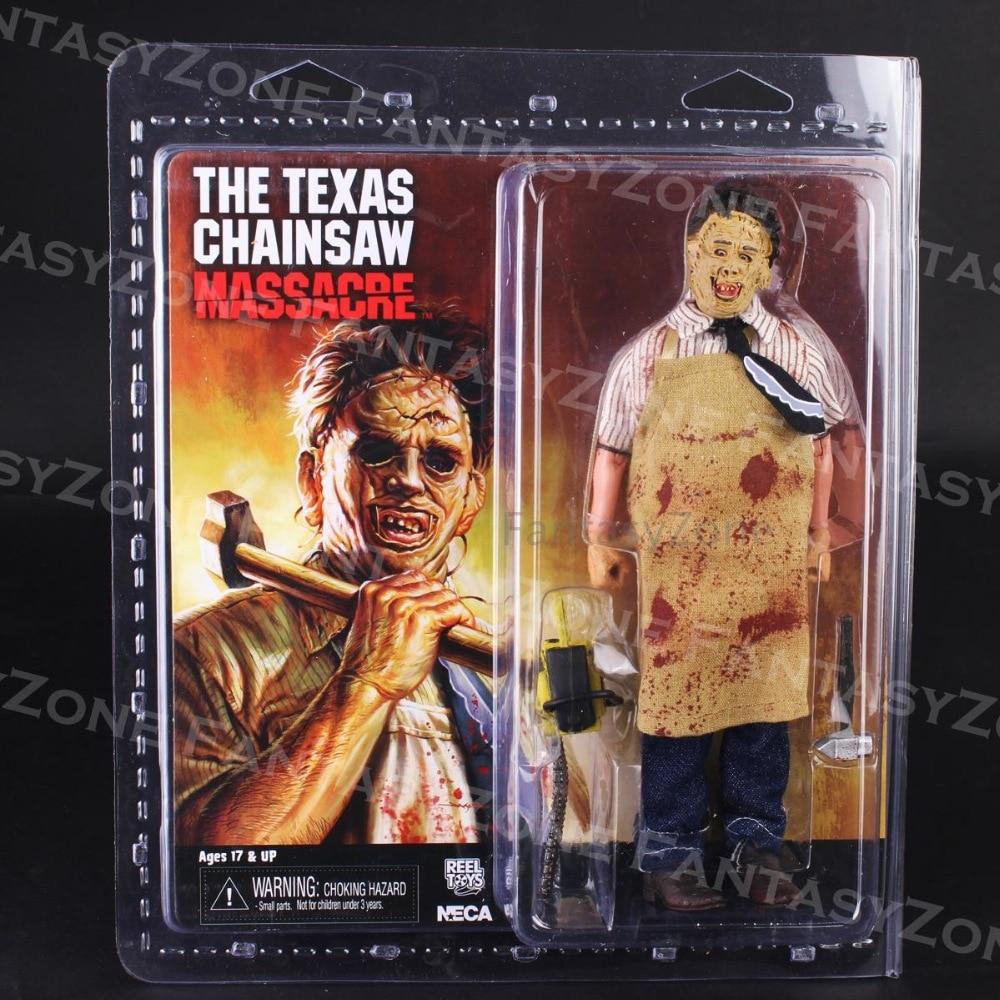 NECA teksańska masakra piłą mechaniczną skórzana twarz ubrana figurki PVC brinquedos kolekcja figurki zabawki w Figurki i postaci od Zabawki i hobby na AliExpress - 11.11_Double 11Singles' Day 1