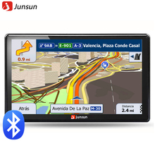 Junsun 7 pulgadas HD GPS Del Coche de la Navegación FM 8 GB 256 M DDR Actualización Gratuita Navitel mapa Europa automóvil Camión de navegadores gps Sat nav