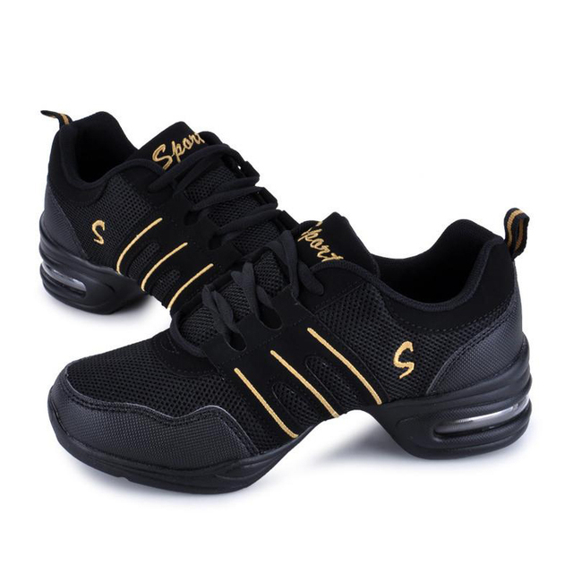 Hot Sale 2018 EU35-42 Sports Feature Soft Outsole Breath Dance Shoes Sneakers For Woman Practice Shoes Modern Dance Jazz Shoes