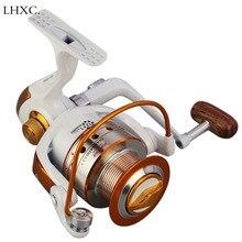 купить 5.5:1Spinning Fishing Reel 12BB + 1 Bearing Balls 500-9000 Series Metal Left/Right Hand Fishing Reel Wheels дешево
