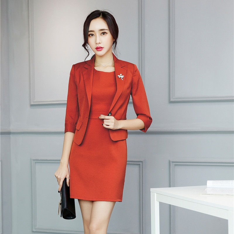 Formal Ladies Dress Suits For Women Business Suits With Dress And