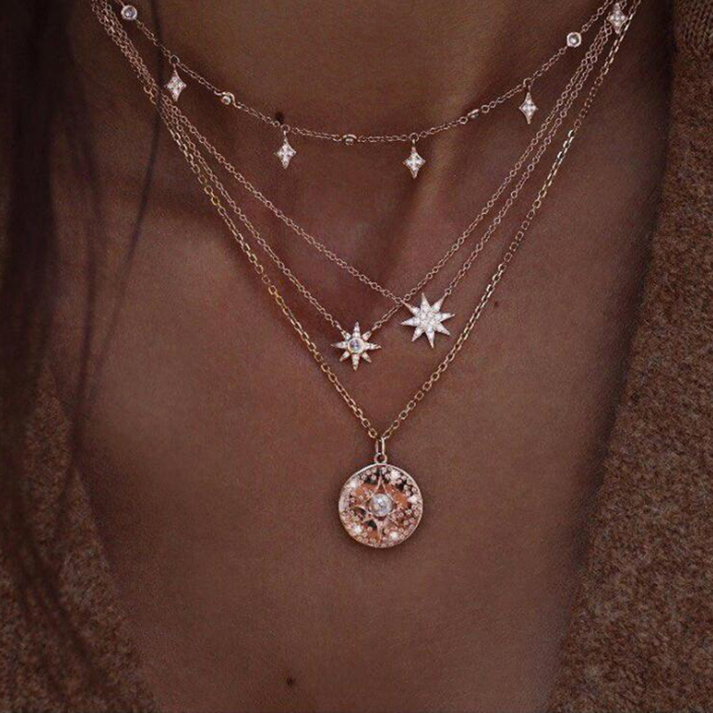 Crystal Stars Necklace