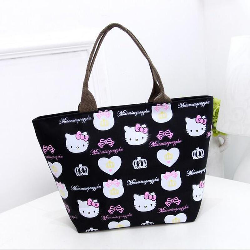 Fashion Women Bag Nylon Hello Kitty Cute Shoulder Bag