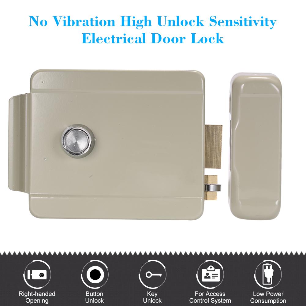 Intercom Locker Doorbell Access-Control Electric-Lock Door-Security-System Opening Lock-Right-Handed