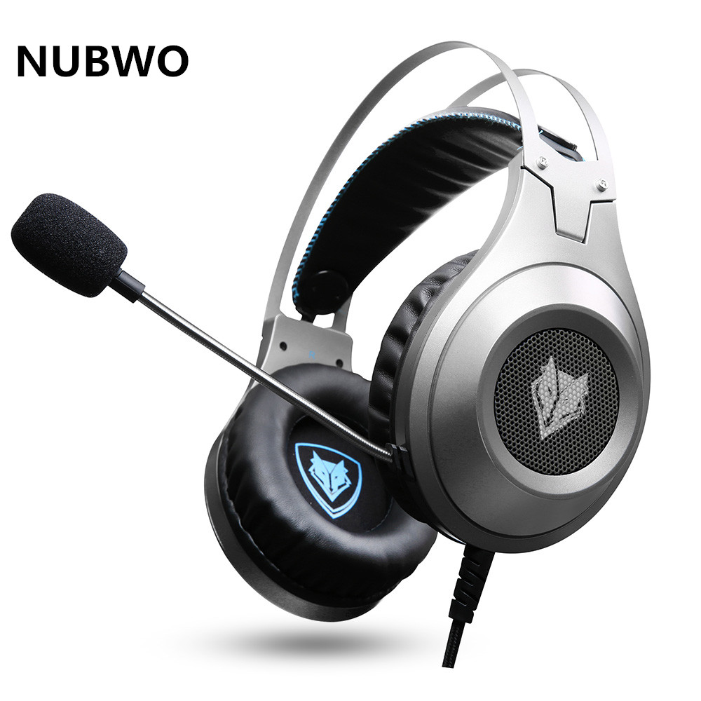 NUBWO N2 PS4 Headset Bass casque Gaming Headphone Headsets With Microphone Mic For PC Gamer/Nintendo Switch/New Xbox one/Phone each g1100 shake e sports gaming mic led light headset headphone casque with 7 1 heavy bass surround sound for pc gamer
