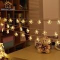 Batería 3 M 20 LED Bola de Nieve Peludo Edelweiss Led Navidad Luces de la Secuencia de Jardín Decoración Del Hogar del banquete de Boda Garland decoraciones