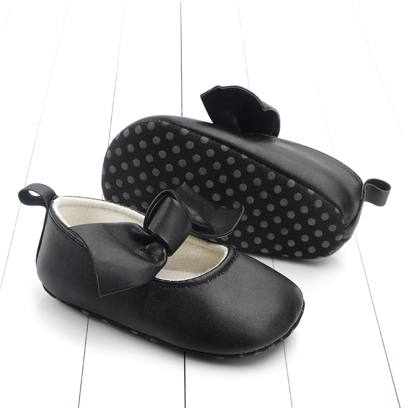 PU Leather Baby First Walkers Shoes Bow Soft Soled Anti-slip Footwear Crib Baby Girl Shoes Infant Toddler Best Gifts for Newborn (3)