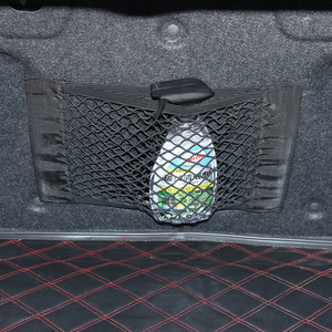 Image 4 - Auto Terug Kofferbak Seat Elastische String Net Magic Sticker Mesh Opbergtas Voor Audi A1 A3 A4 A5 A6 b5 B6 B8 Q3 Q5 Q7