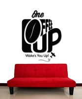 Wall Stickers Vinyl Decal Coffee Cup One Who Wake You Up For KItchen