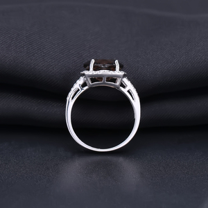 Image 5 - GEMS BALLET 5.22Ct Natural Smoky Quartz Wedding Rings Solid 925 Sterling Silver Vintage Gemstone Ring Fashion Jewelry For Women