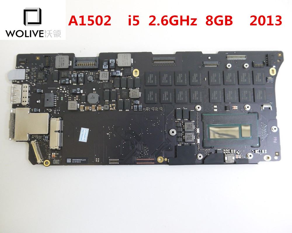 100% Tested Logic Board for MacBook Air 13 A1502 2013 2014 i5 2.4GHz ,2.6GHz 8GB RAM Motherboard 820 3476 A