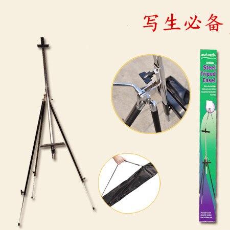 Фото Portable Adjustable Folding Telescopic Artist Art Field Studio Painting Tripod Display Easel Stand Mini Easel for Painting