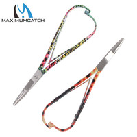 Maximumcatch DE041/042 Mitten Scissor Clamps Rainbow/Brown Trout Pattern Fly Fishing Tools Forceps Fishing Accessory