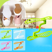 1 PC Household Portable Closet Storage Easy Shoes Rack Holder Organizer Space Saver Double Plastic Shoes Rack Save Space