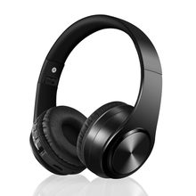 Wireless Headphones with Microphone Noise Cancelling Headphones For PC mobile phone On-Ear Headphones Black Foldable Headphone стоимость