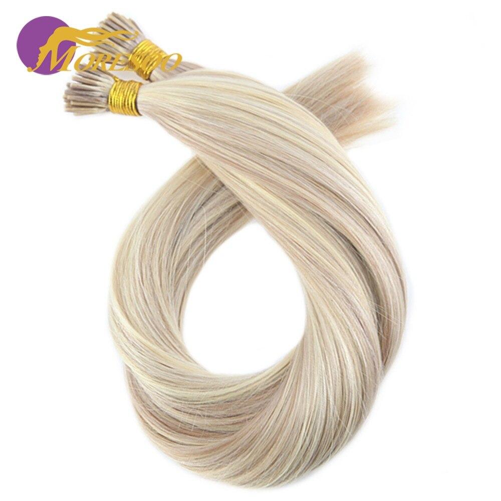 Haarverlängerung Und Perücken Fusion-haarverlängerungen Romantisch Moresoo Keratin Haar Verlängerung I-spitze Menschenhaar Kalte Fusion Echt Brasilianische Haar Farbige Ombre Und Highlight Haar Farbe 1 Gr/sek 50g
