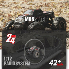 Super Big Rremaote Control Car 9115 2.4G 1:12 1/12 Scale 40KM+ RC RTR Brushed Monster Truck Off-road Car RTR 2.4GHz for Boys