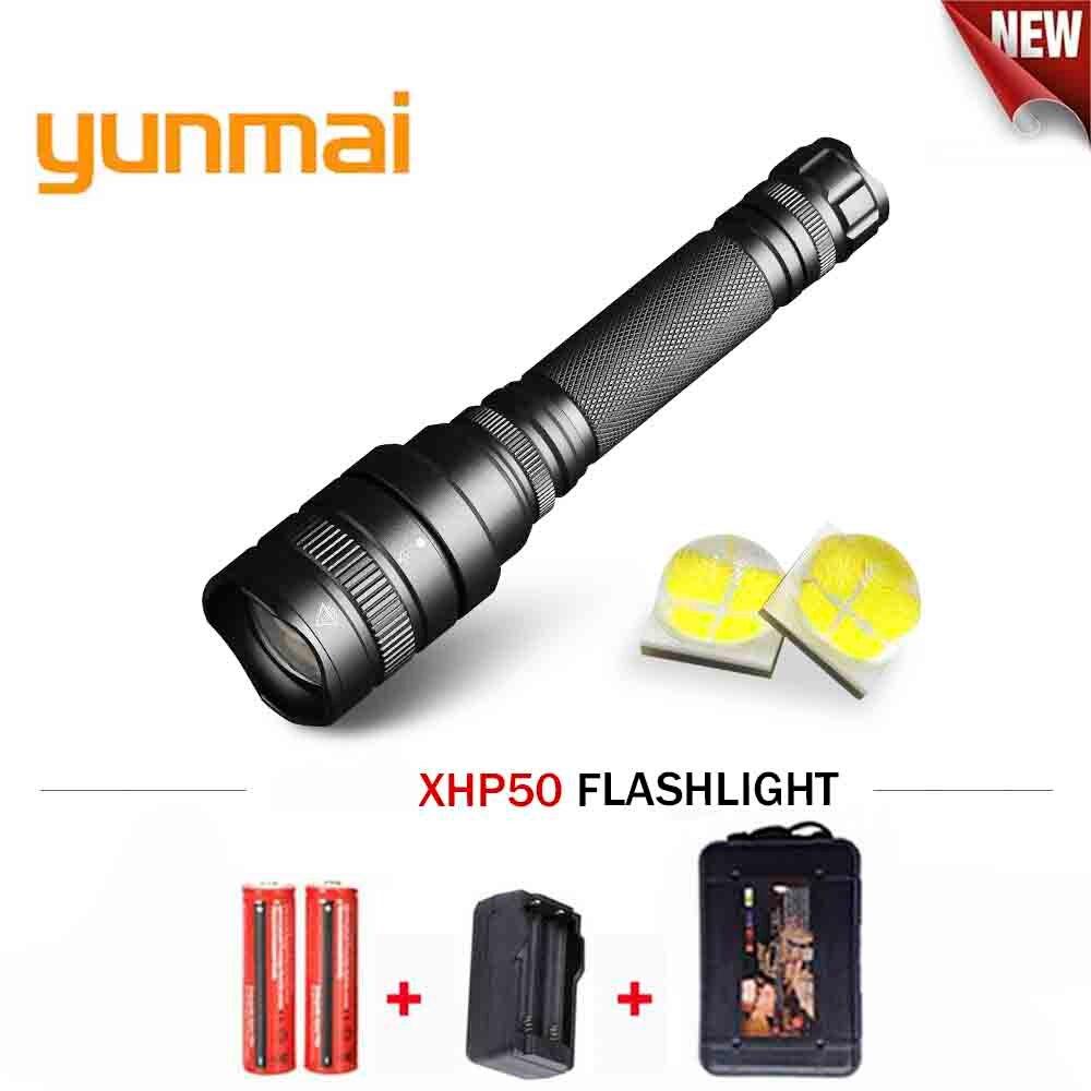 Haute Puissance flash lumière Zoomables cree Xhp50 led lampe de Poche étanche torche Lanterna linterna Utiliser des piles rechargeables 18650