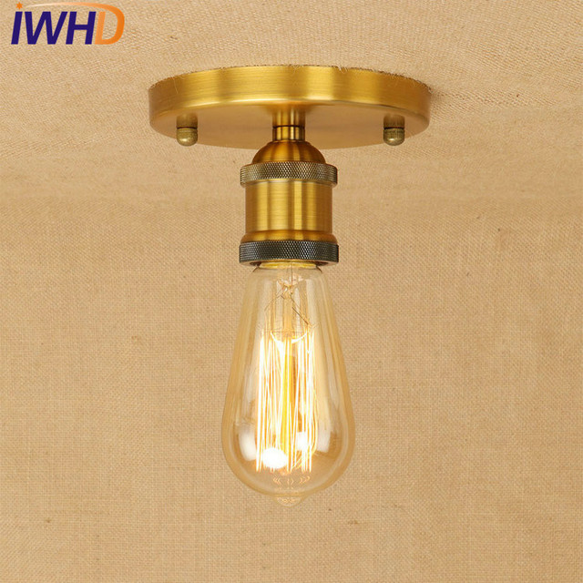 IWHD Loft Style Edison Industrial Ceiling Lamps Antique Metal Vintage  Ceiling Light Fixtures Indoor Lighting Lustres