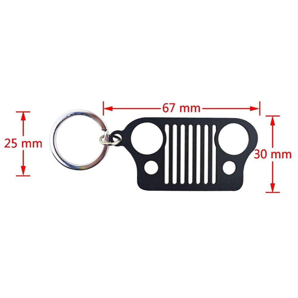 Runmade металлическая решетка брелок для джип Гриль кольцо для ключей CJ JK TJ YJ XJ