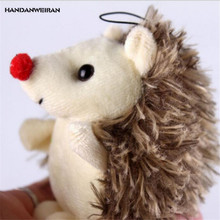 HANDANWEIRAN 1Pcs PP Cotton 10CM New Kawaii Cute Hedgehog Stuffed Toys Cartoon Animal Pendant Kids Gift Doll Plush Toy Keychain