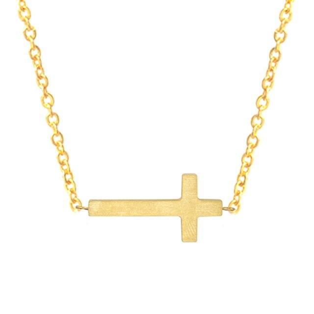 Christian Jewelry Gold Jesus Cross Necklace Women Colar Masculino