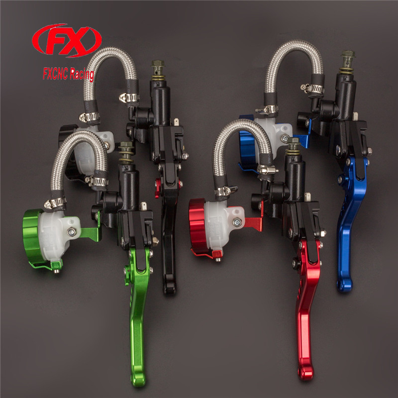 FX CNC 7/8 125-300CC Motorcycle Master Cylinder Reservoir Brake Clutch Lever Hydraulic Brake Lever For Honda NX250 1991 - 1992 hot sale motorcycle accessories 7 8 hydraulic levers cnc motocross brake master cylinder lever for ktm 105sx 2009 2010 2011