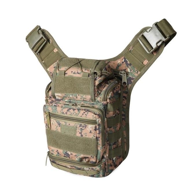 Campo Viagens Caminhada bolsa de ombro Militar saco Da Câmera Fotografia Transporte Da Gota pacote de Trekking Rover Sling Bag Peito Pacote Peito