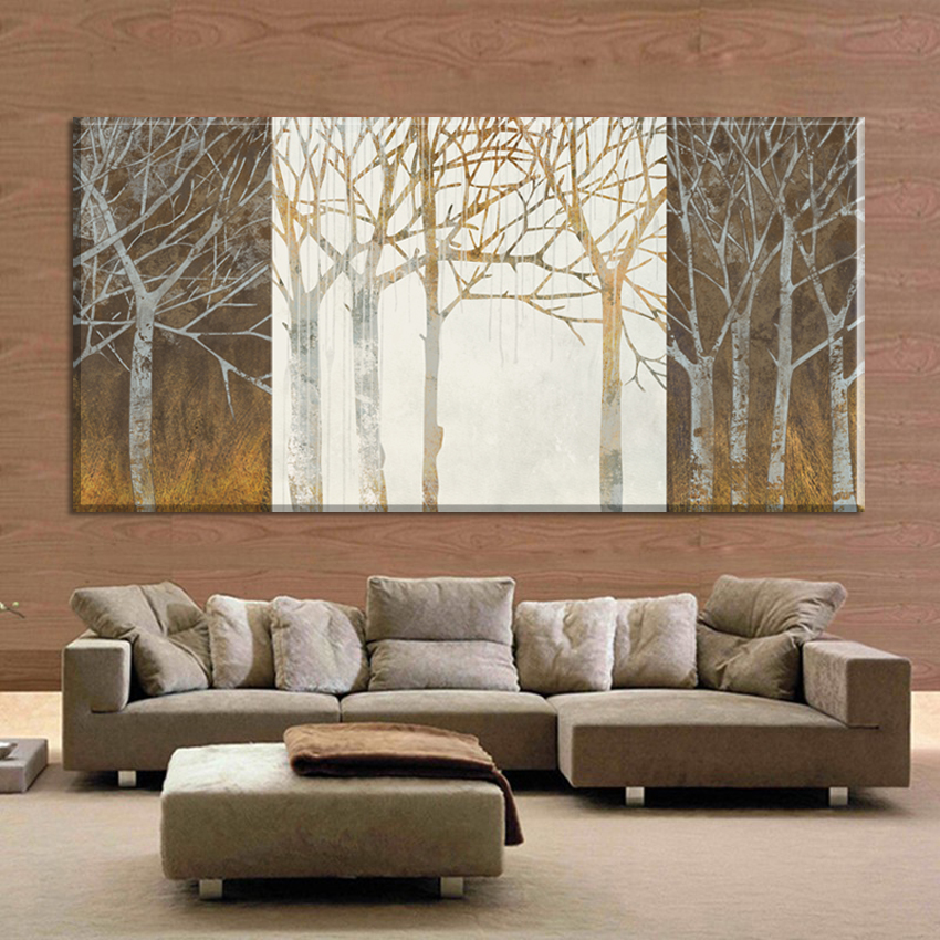 Trees Night And Day Canvas Pictures Art HD Print Painting Modern Paintings On The Wall Home Decoracion For Living Room