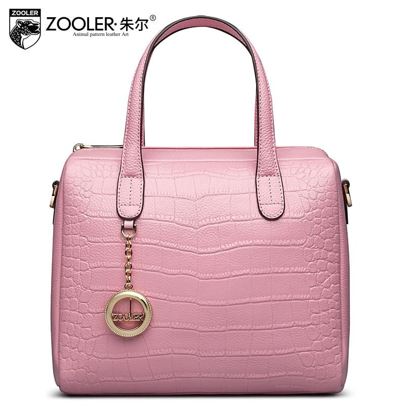 Zooler Genuine Leather Handbag Luxury Handbags Women Bags Designer Cowhide Stone Pattern Pillow Bag Fashion Brief Shoulder Bag