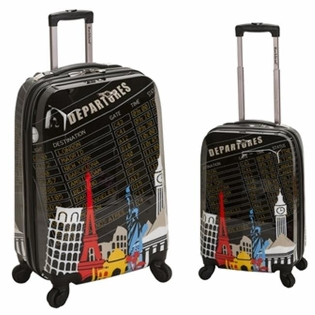 Rockland F212-DEPARTURE 2 PC POLYCARBONATE-ABS UPRIGHT LUGGAGE SET - DEPARTURE
